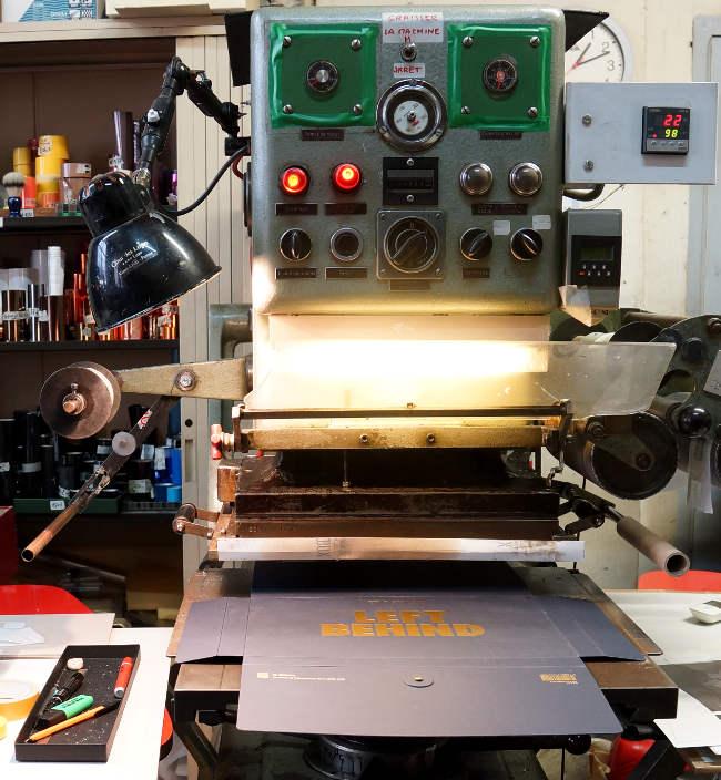 Imprimerie Bouquet Crozat - Dorure à Chaud